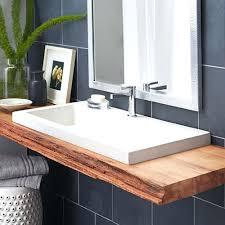 bathrooms design double faucet trough sink single drain bathroom
