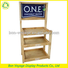 Retail Countertop Wood Coconut Water Display Stand