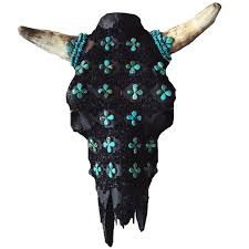 100 decorated cow skulls images 77 best huichol yarn