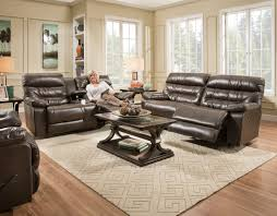 Rana Furniture Living Room by Domino Faux Leather Collection