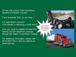 Food Assistance Clients May Be Eligible For Truck Driver Training ... Wa State Licensed Trucking School Cdl Traing Program Burlington Why Veriha Benefits Of Truck Driving Jobs With Companies That Pay For Cdl In Tn Best Texas Custom Diesel Drivers And Testing In Omaha Schneider Reimbursement Paid Otr Whever You Are Is Home Cr England Choosing The Paying Company To Work Youtube Class A Safety 1800trucker 4 Reasons Consider For 2018 Dallas At Stevens Transportbecome A Driver