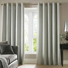 105 Inch Drop Curtains by Ashley Wilde Cairo Lined Eyelet Textured Curtains Duck Egg