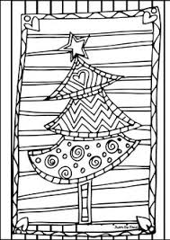 FREE Scrappy Christmas Tree Coloring Page