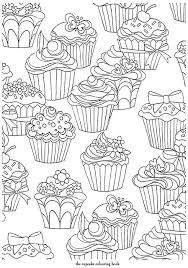 cupcake template to color cupcakes pattern free printable adult coloring pages coloring pages adult coloring free cupcake template to color