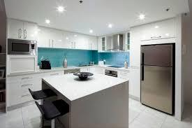 Blue Textured Glass Splashback Is A Winning Feature In This Stunning Kitchen Kingscliff