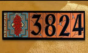 unique tile house numbers and vintage ceramic tile house number