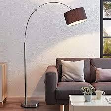 lindby stehle bogenleuchte kelja modern in chrom aus textil ua für wohnzimmer esszimmer 1 flammig e27 a bogenle stehleuchte