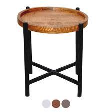 voglrieder beistelltisch wohnzimmer tisch rund omaha metall gestell altsilber oder schwarz tabacco möbel und schönes