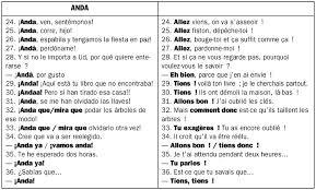 interjections issues d un verbe de mouvement étude comparée