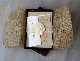 Burlap Wedding Invitations And Lace
