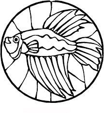 Stained Glass Coloring Pages Betta Fish