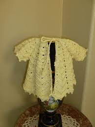 lilly my cat crochet ripple baby sweater with vintage pattern