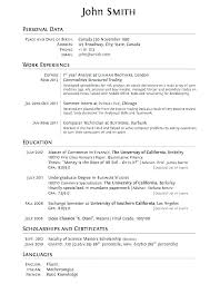 Examples Of Resume For Students Sample College Student Resumes