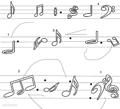 Music Note Coloring Pages And Free Printable Notes