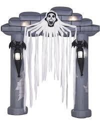 Inflatable Halloween Cat Archway by Inflatable Halloween 2 Ghostes 2 Tomstone And Spooky Tree Archway