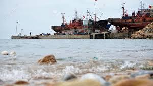 100 An Shui Wan The Dock Of The Fishing Port Of Hun In Lushun Old Iron