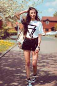 high waisted shorts converse white t spring fashion for women