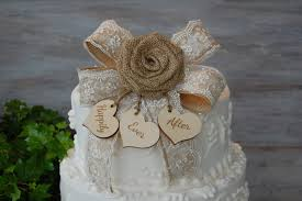 Amazing Ideas Rustic Wedding Cake Toppers Chic Design Topper Burlap Shabby