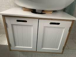 bad unterschrank und regal weiß holz badezimmer möbel schrank