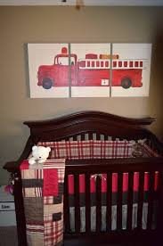 DIY Painting And Bedding By My Mom And Myself. Fire Fighter Nursery ...