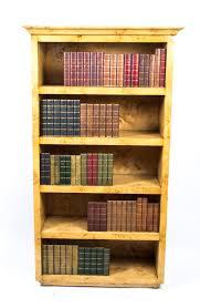 Open Bookcase by Elegant Art Deco Style Birdseye Maple Open Bookcase