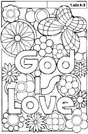 Bible Coloring Pages Great God Is Love
