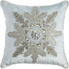 Pier One Christmas Throw Pillows by Velvet Beaded Snowflake Pillow Pier 1 Imports White Christmas