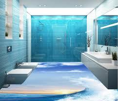 3d bodenbelag wellen 3d boden badezimmer dekoration boden