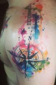 Water Colour Tattoo Watercolour Ocean Compass