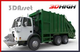 Garbage Truck Vehicle 3D | CGTrader