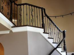 Wrought Iron Stair Spindles HOUSE EXTERIOR AND INTERIOR : The Type ... Wrought Iron Stair Railing Idea John Robinson House Decor Exterior Handrail Including Light Blue Wood Siding Ornamental Wrought Iron Railings Designs Beautifying With Interior That Revive The Railings Process And Design Best 25 Stairs Ideas On Pinterest Gates Stair Railing Spindles Oil Rubbed Balusters Restained Post Handrail Photos Freestanding Spindles Installing