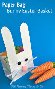 Easy To Make Paper Bag Bunny Easter Basket Craft For Kids