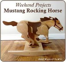 playroom palomino rocking horse woodworking plan woodworking diy