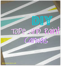 Easy Canvas Painting Ideas With Tape New Diy Paint Art