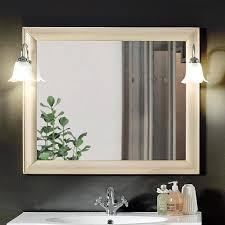 martina spiegel im klassischen stil mit rahmen und zwei elfenbeinapplikationen