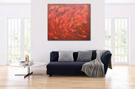 großformatige malerei peggy liebenow rot gold abstrakt nr 1368