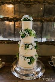 Buttercream Wedding Cake Auckland 450 Only Flowers Supplied And Added By The Couples