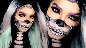 Halloween Half Mask Makeup by Half Skull Makeup Tutorial Reattached Face Halloween Skull