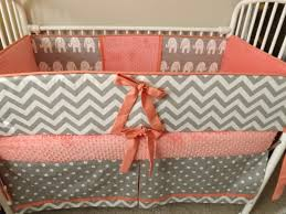 Teal And Coral Baby Bedding by Nursery Beddings Mint Coral And Grey Crib Bedding As Well As
