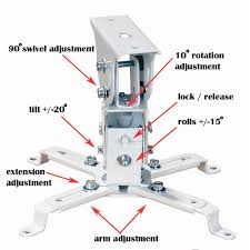 amazon com videosecu lcd dlp projector ceiling mount bracket