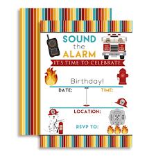 100 Fire Truck Birthday Party Invitations Amazoncom And Man Rescue Celebration