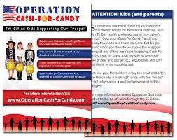 Donate Leftover Halloween Candy To Our Troops by Operation Cash For Candy