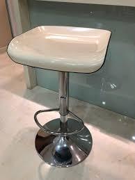 2 X Modern Bar Stools / Adjustable Height Swivel Chairs ...