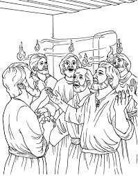 Pentecost Bible Coloring Page