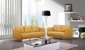 canapé sixties canapé vintage en tissu jaune et acier brossé 3 places
