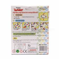 Finger Twister Portable Interesting Funny Dance On Fingers Family Toy Board Game With Box