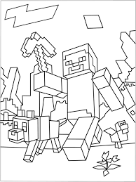 Coloring Page Minecraft Video Games 33