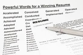 Using The Word I In A Resume by Power Words To Use In Your Resume