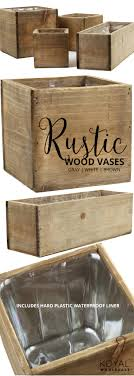 Koyal Wholesale Rustic Wood Flower Vases In Bulk