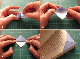 Paper Crafts For Kids Recycled Origami Bookmarks Tutorial